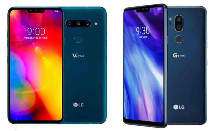 LG V40 vs LG G7 ThinQ: ¿Cuál es la diferencia?