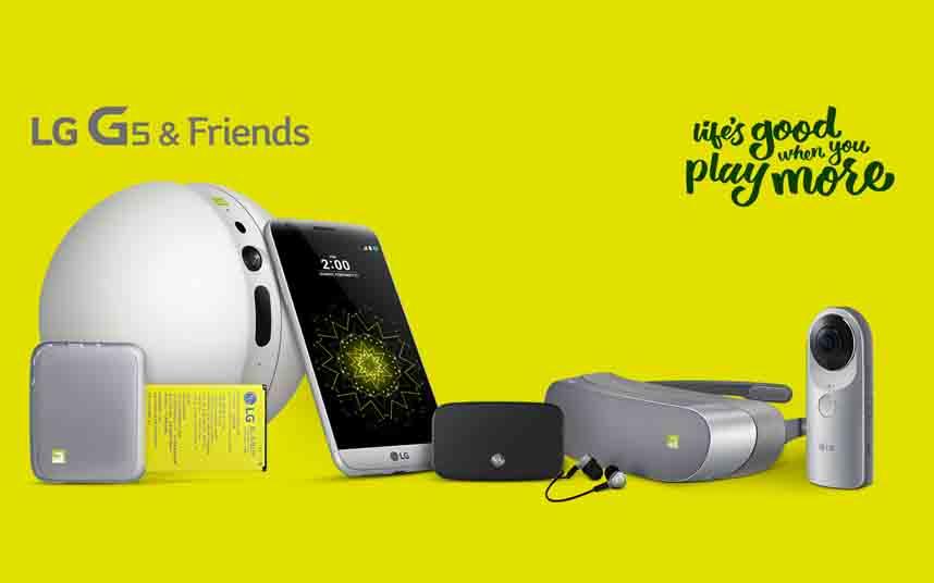 Los «Amigos» del LG G5
